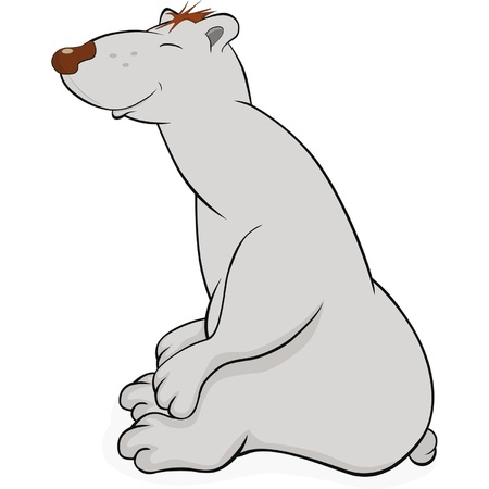 Polar bear.Cartoon  Vector