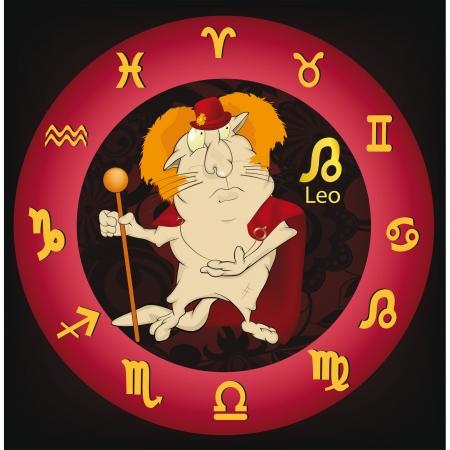 rey caricatura: signos. El Le�n. Dibujos animados