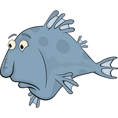 despondency: Deep-water fish. Cartoon