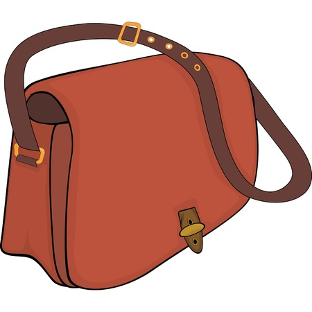 bag cartoon: Bag. Cartoon Illustration