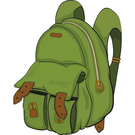学校のバックパック。漫画  イラスト・ベクター素材