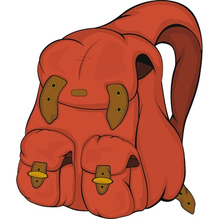 School backpack. Cartoon Vector