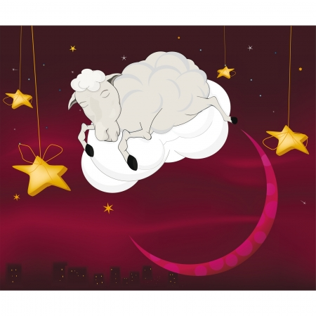 Ram on a cloud  Vector