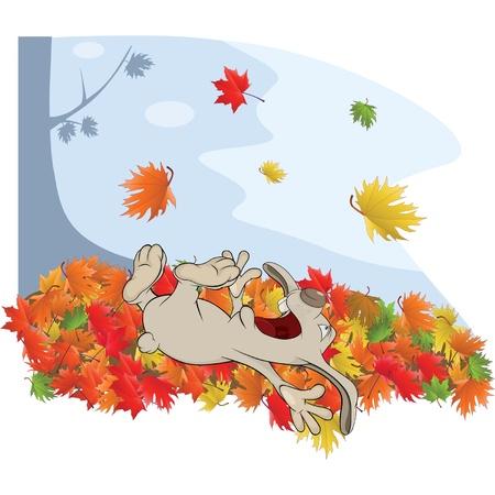 Rabbit and autumn Vector