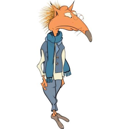 Fox. Cartoon Vector