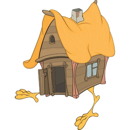 Hut on chicken legs cartoon Vector