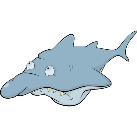 Shark. Cartoon Vector