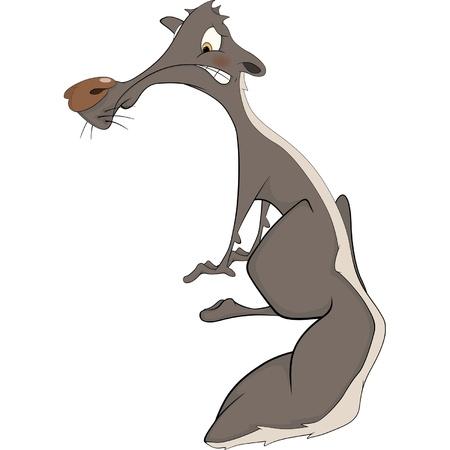 stinktier: Skunk. Zeichentrickfilm