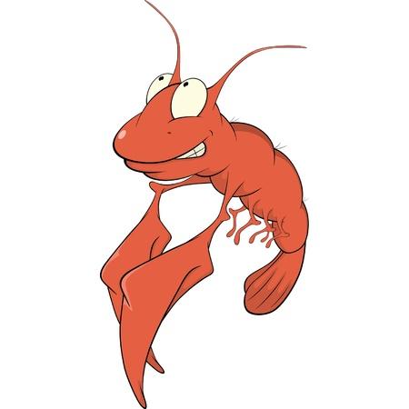 Red lobster cartoon Vector