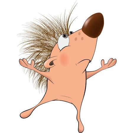 Small hedgehog. Cartoon