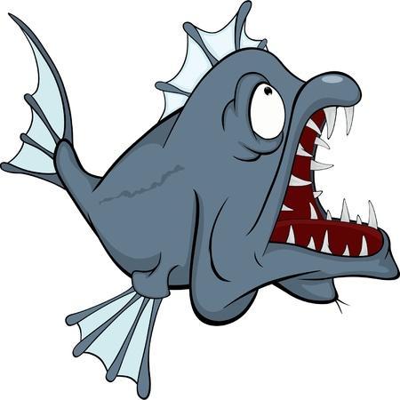深海魚の捕食者  イラスト・ベクター素材