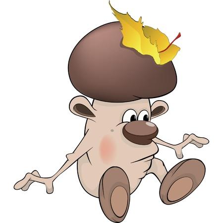 uneatable: Mushroom the wizard cartoon Illustration