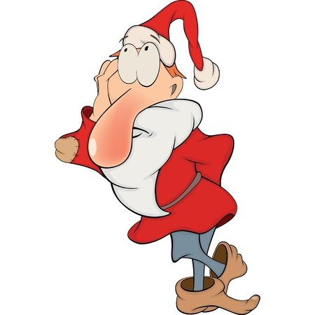 dwarves: The gnome  Santa Claus  Cartoon