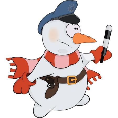 policia caricatura: Bola de nieve de la historieta de polic�a