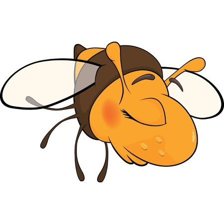 Bee blindly. Cartoon Vector