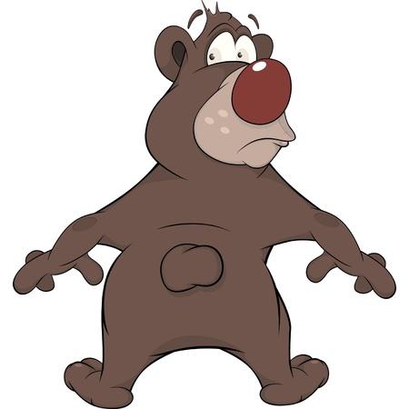 Bear. Cartoon Vector