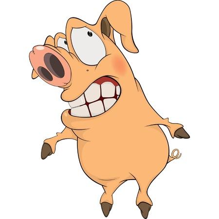 pig cartoon: Pig. Cartoon  Illustration
