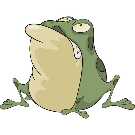The green toad . Cartoon Vector