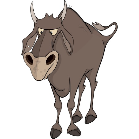 Bull. Cartoon Vector