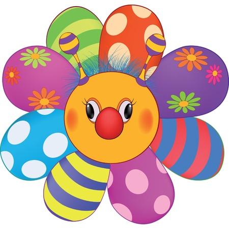 pl�schtier: Happy Cartoon Blume, Sonne, Stofftier