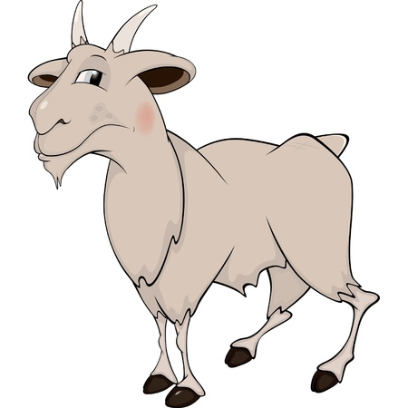 Goat. Cartoon Vector