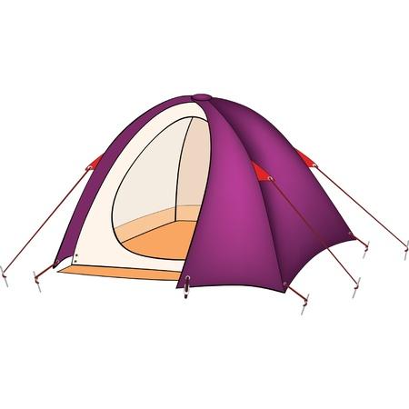violet residential: Violet tent