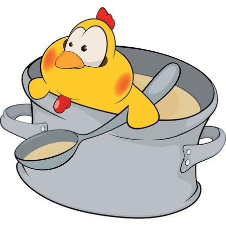 soup: Chicken the cook cartoon