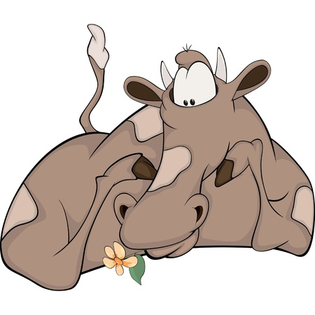 Lovely happy cow Stock Vector - 17932876