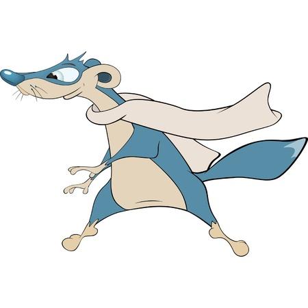 mongoose: Dark blue mongoose cartoon