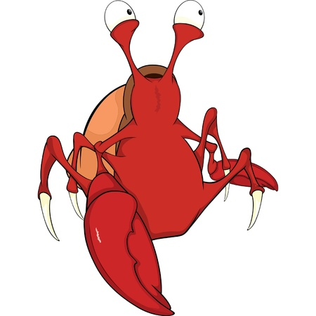 crab cartoon: Red crab cartoon