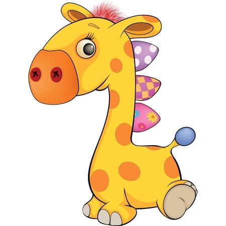 Toy giraffe Vector