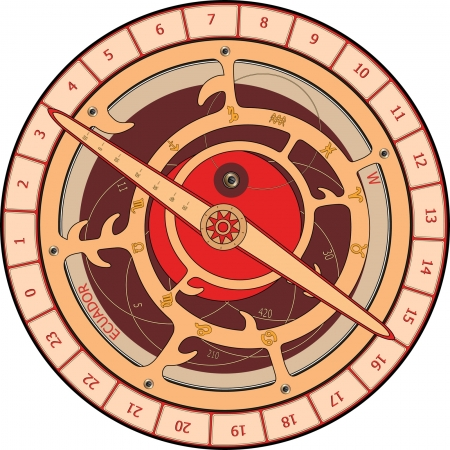 astrolabe cartoon Vector