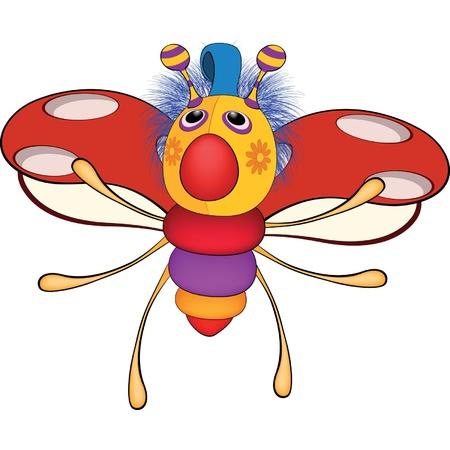 Ladybird from a fairy tale. Toy. Cartoon Illustration