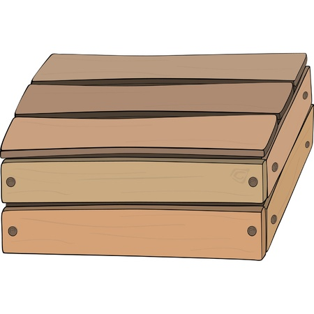 wooden box: Wooden box Illustration