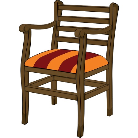 Old chair Stock Vector - 19828853