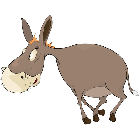 The little burro. Cartoon Vector