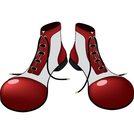 Boots for the clown. Cartoon Vector