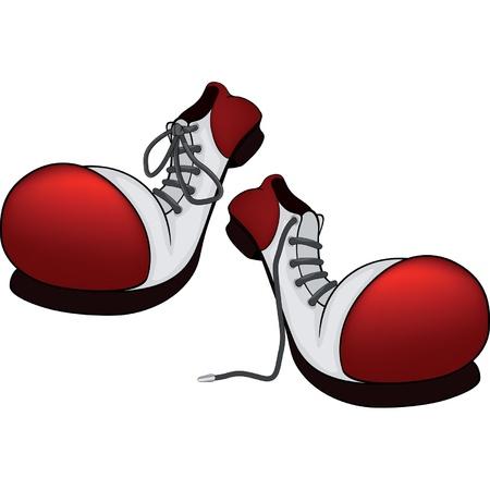 zapatos caricatura: Botas para el payaso de la historieta Vectores