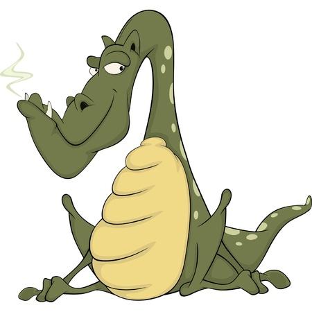 Green dragon  Cartoon Stock Vector - 20693375