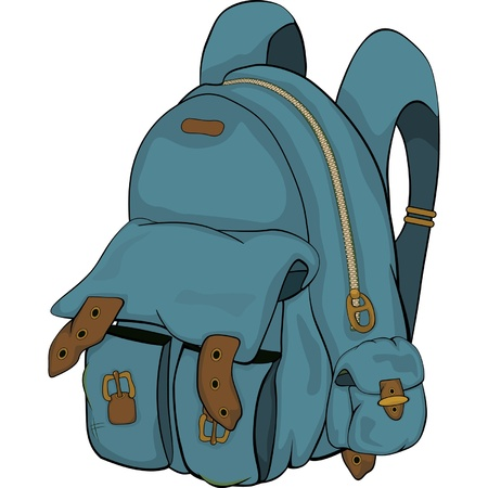 backpack school: School backpack  Cartoon Illustration