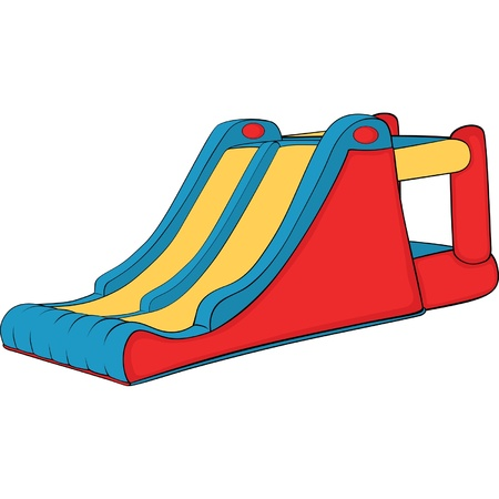 Inflatable Children swing hill