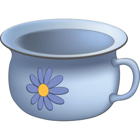 chamber pot: Old chamberpot Illustration