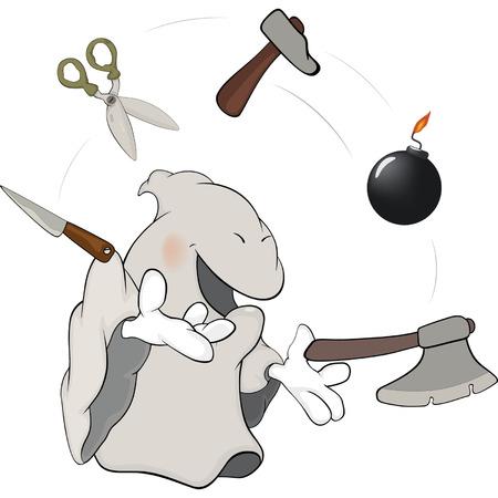 dexterity: Ghost the juggler cartoon