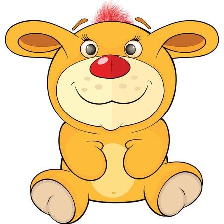 Toy yellow bunny cartoon Vector