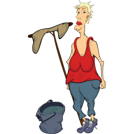 The cleaner cartoon  Vector
