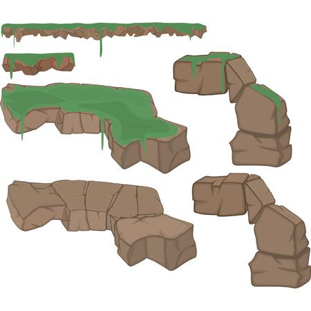 rock formation: Stones Set cartoon