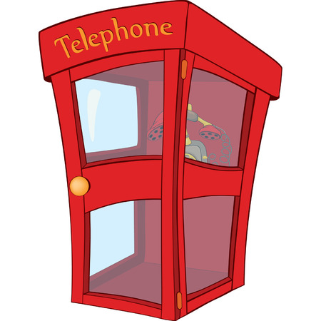 telephone box: Payphone cartoon
