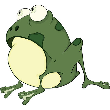 The green frog  Cartoon  Vector