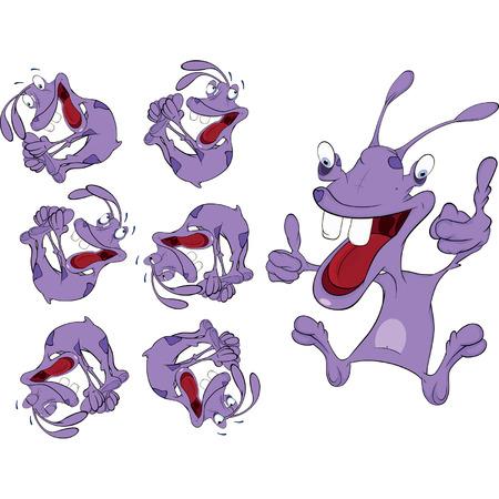 an alien set cartoon Stock Vector - 25312453
