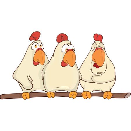 Hens cartoon  Vector